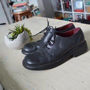 Vintage Nine West Black Leather Brogue Shoes